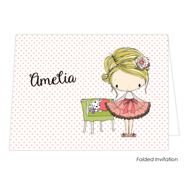 Amelia Christening Folded Invitation