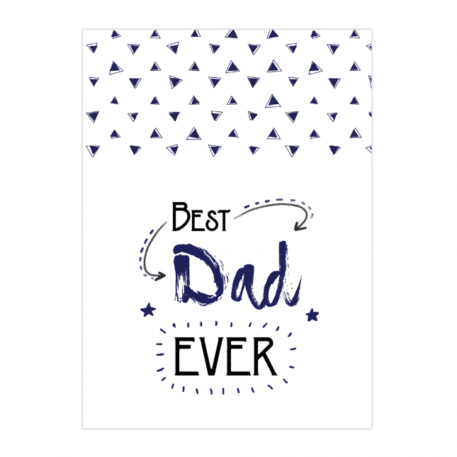 Best Dad Ever Folded Greeting Card