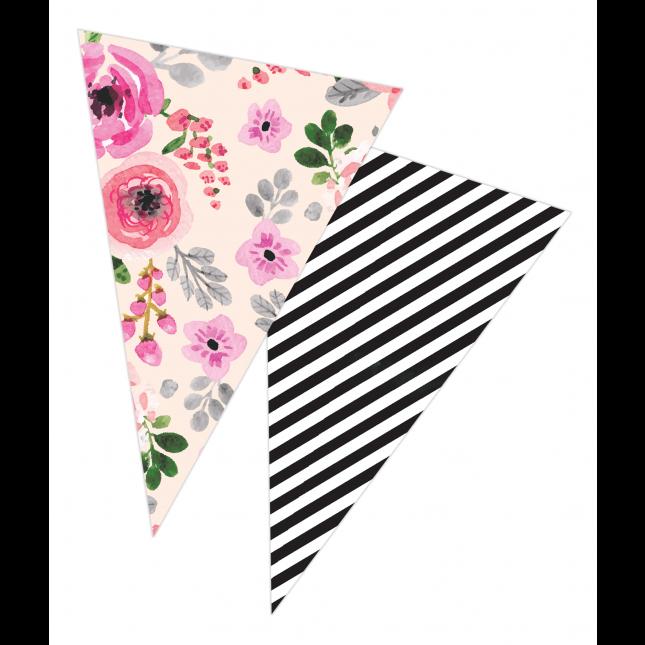 Pink Floral Banner