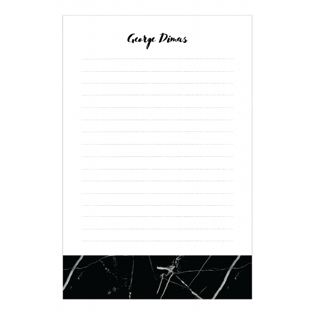 Black Marble Personalized Notepad