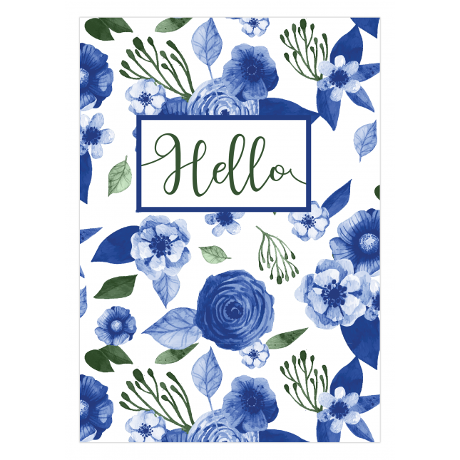 Blue Willow Notebook