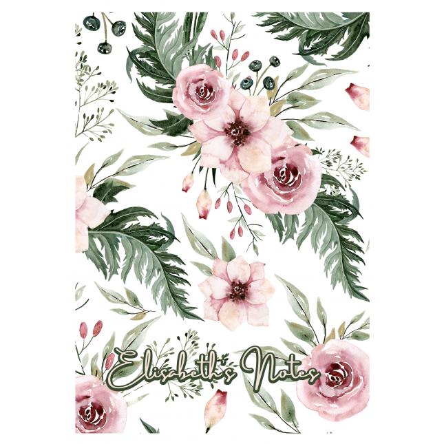 British Garden Personalized White Notebook