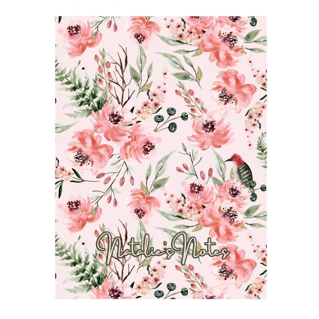 British Garden Personalized Peach Notebook