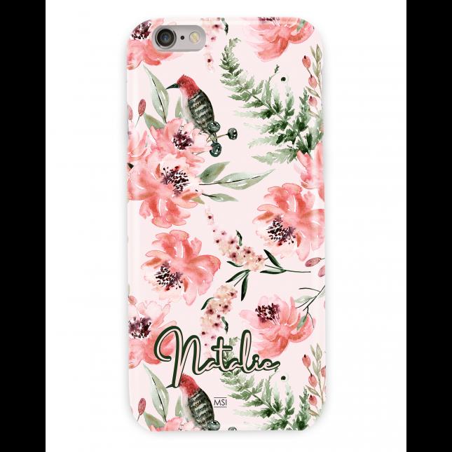British Garden Personalized  Peach Case