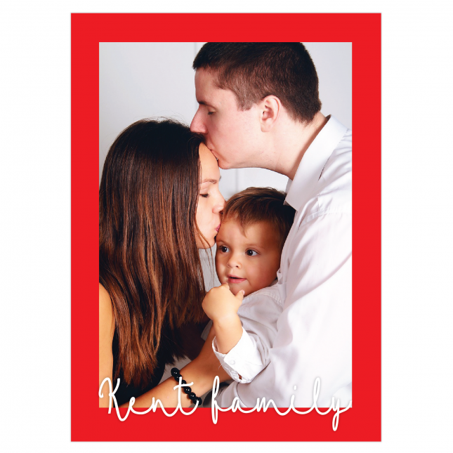 Christmas Framed Personalized Greeting Card