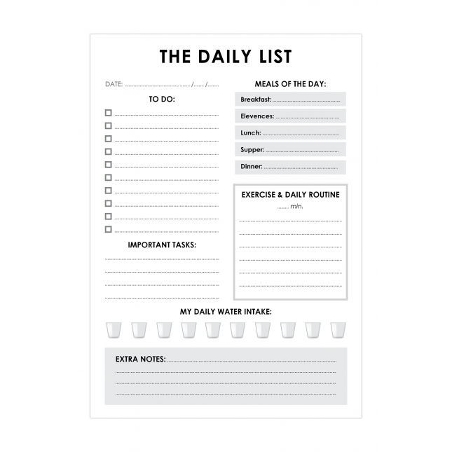 Daily & Fit List  for Him | Planner