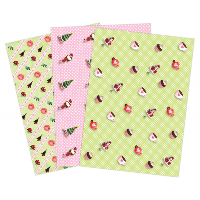 Dollhouse Gift Wrap Paper