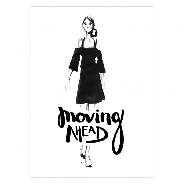 Don't look back Folded Greeting Card | Virginia Romo