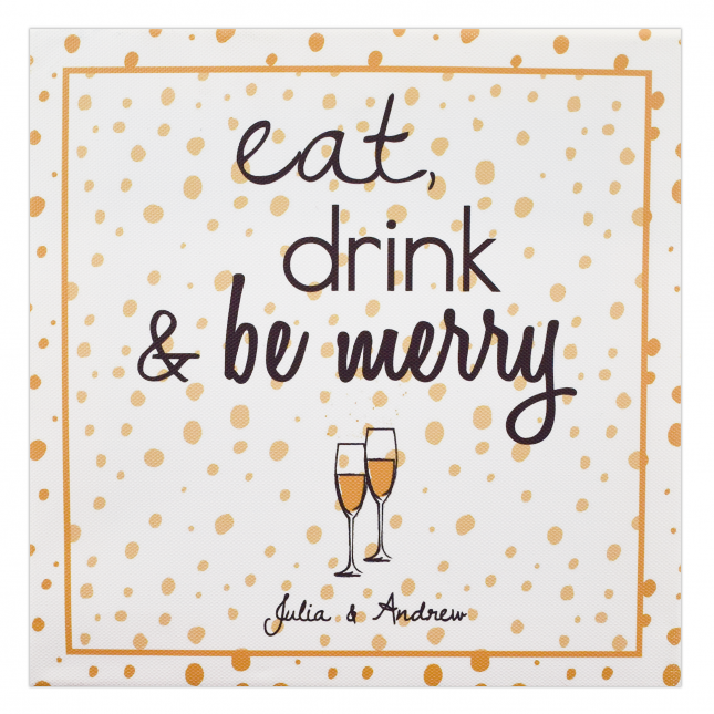Eat, Drink & Be Merry Christmas Frame