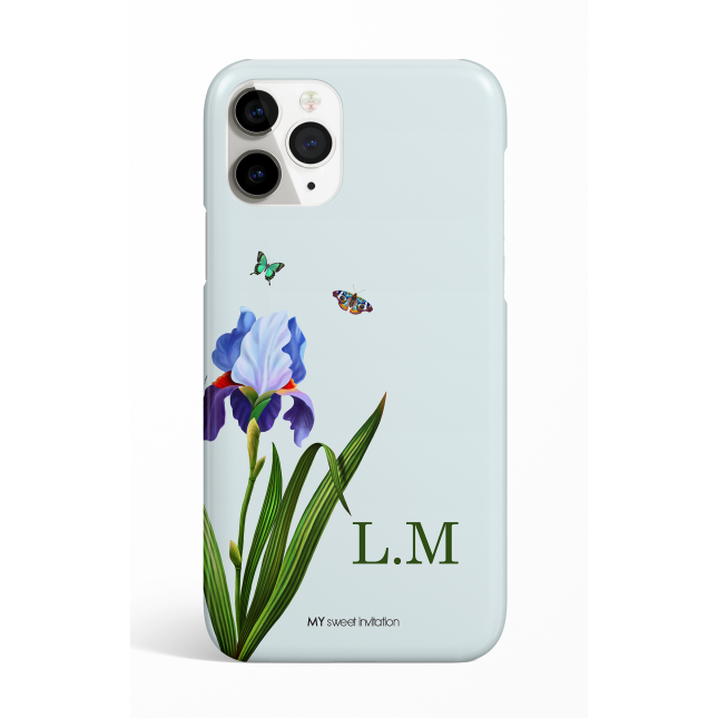 Eden One Flower Cyan Monogram Phone Case