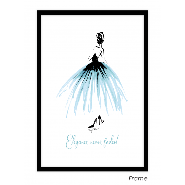 Elegance never fades Art Print | Virginia Romo