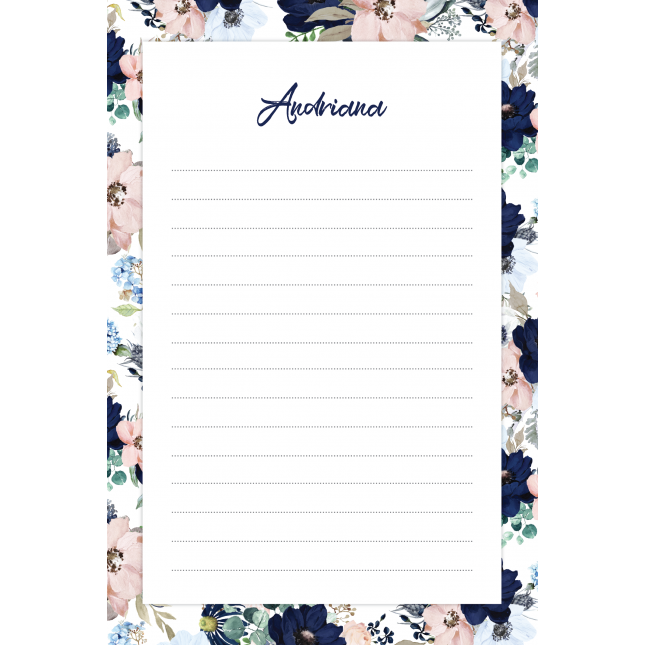 Evening Garden Personalized Notepad