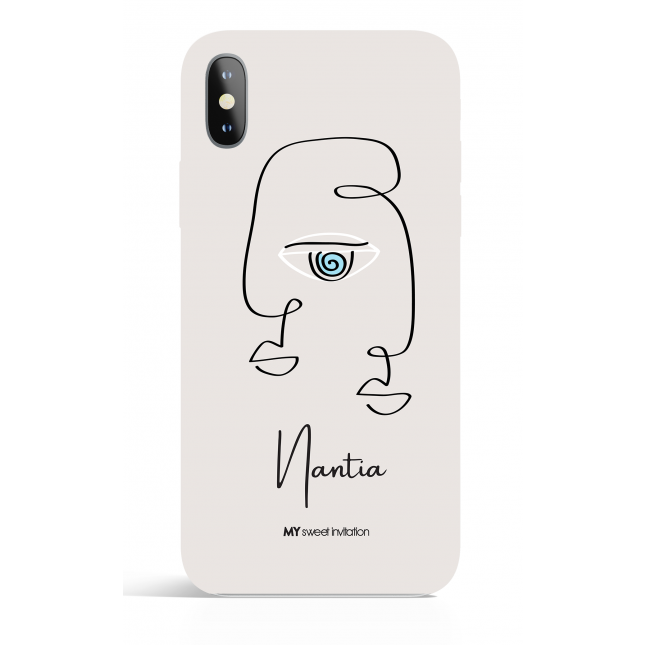 Eye Line Grey 21  Art Phone Case