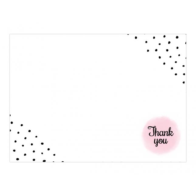 Polka Hearts Premium Thank you Cards