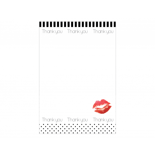 Red Lips Thank you Cards