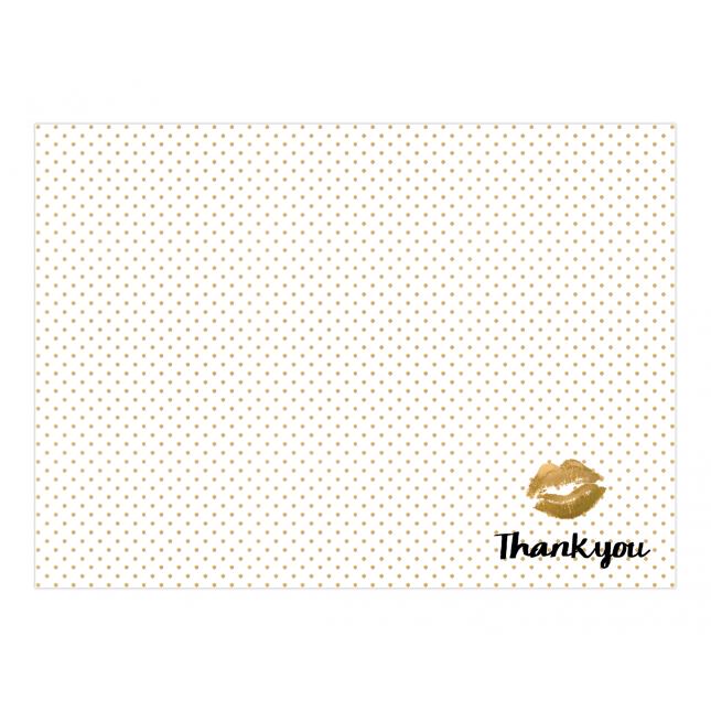 Stripped Polka Premium Thank you Cards