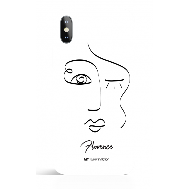 One Line Woman Face  22  Art Phone Case