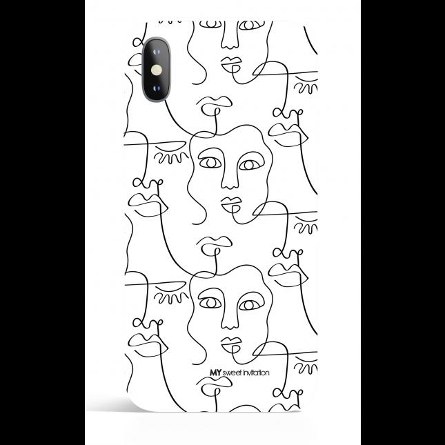 One Line BW 12 Art Phone Case