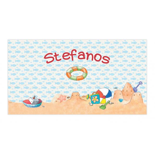 Boy Summertime Envelope Sticker