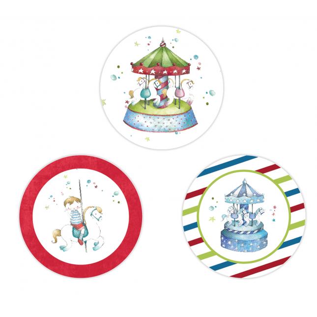 Carousel Circle Stickers