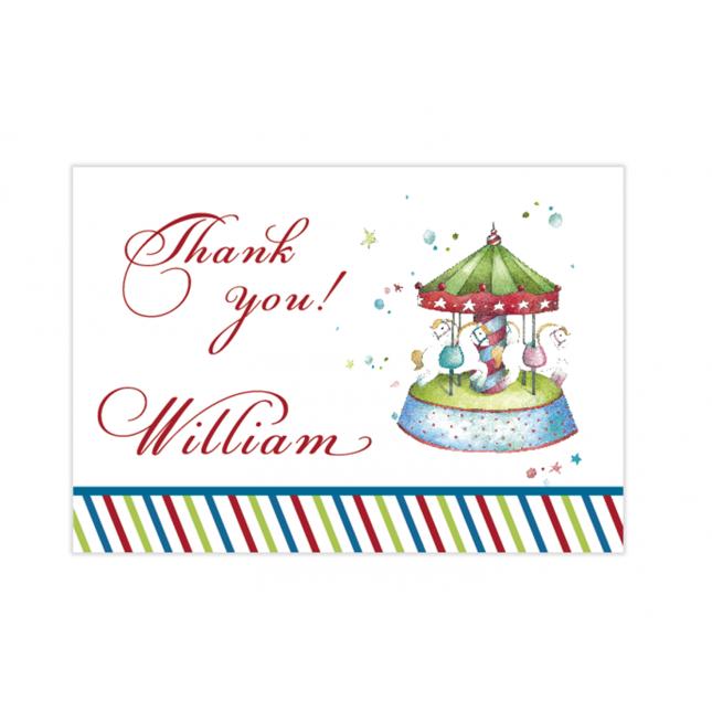Carousel Mini Thank You Cards