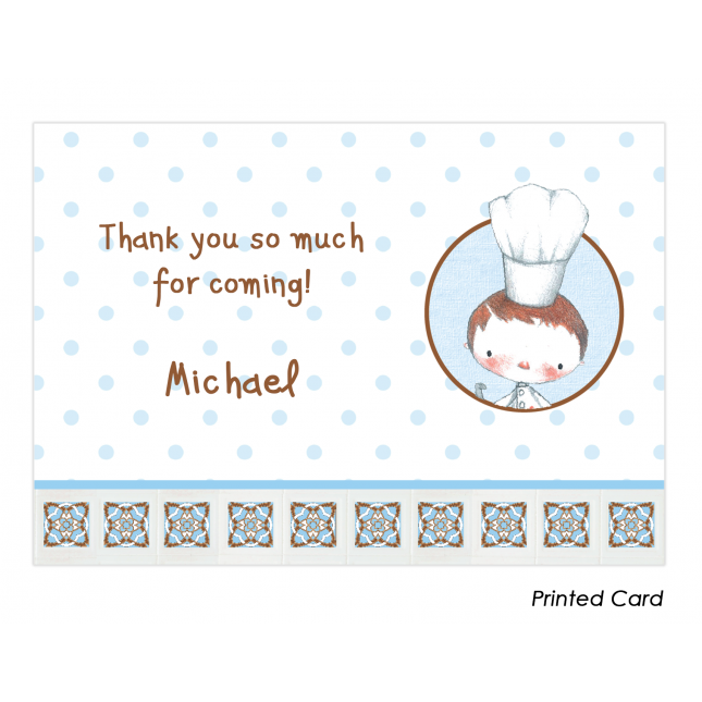 Little Boy Chef Thank You Cards