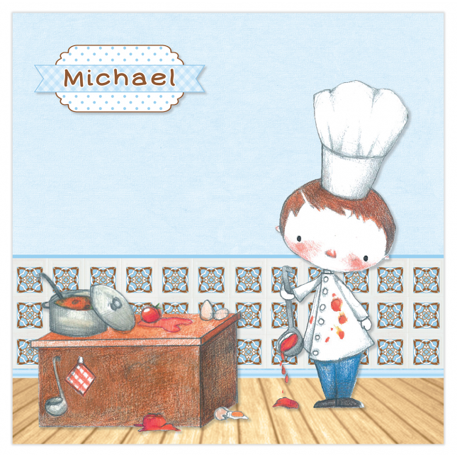 Little Boy Chef Canvas Frame