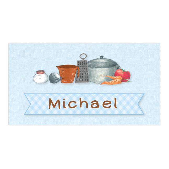 Little Boy Chef Envelope Sticker