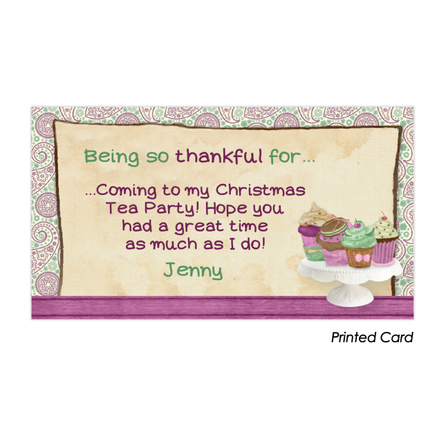 Shabby Chic Tea Party Thank You Cards