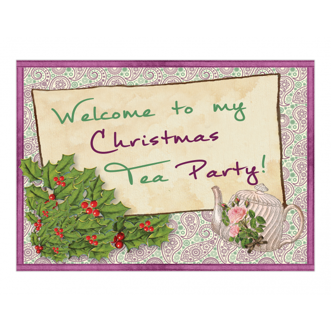 Shabby Chic Tea Party Welcome Sign