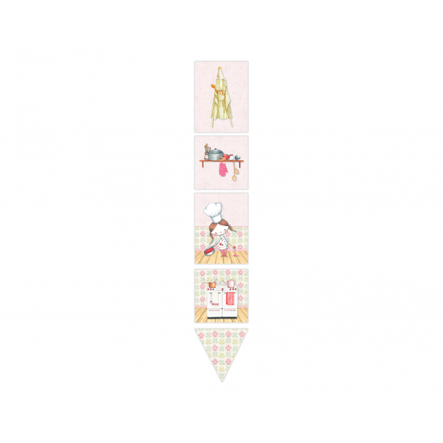 Little Girl Chef Decor Banner
