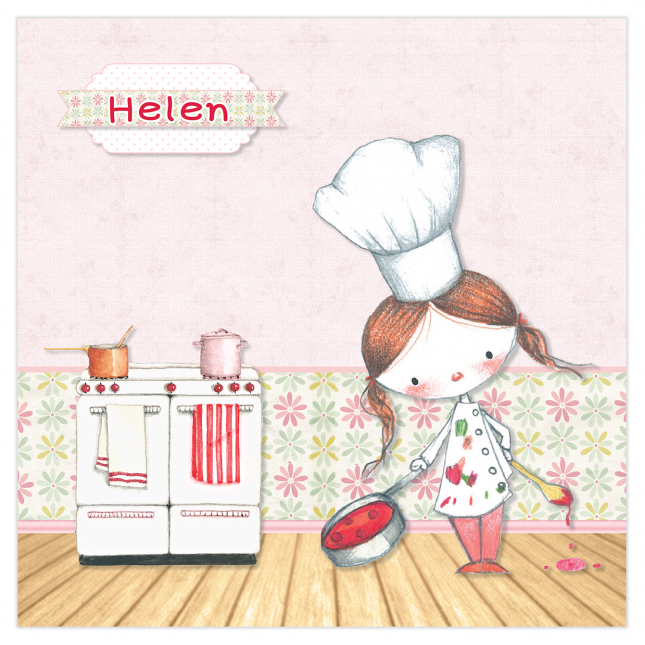 Little Girl Chef Canvas Frame
