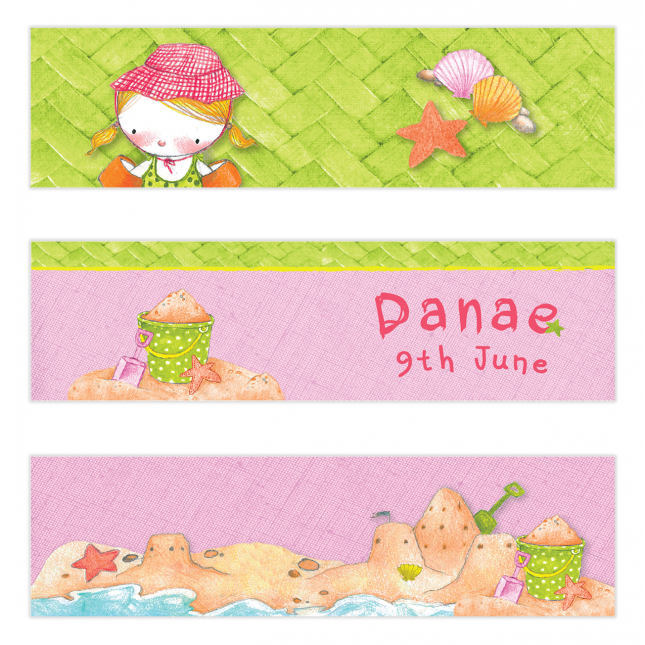 Girl Summertime Mini Topper Flags