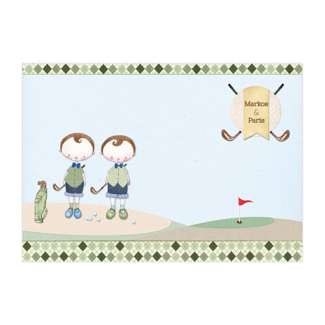 Golf Boy Twins Placemat