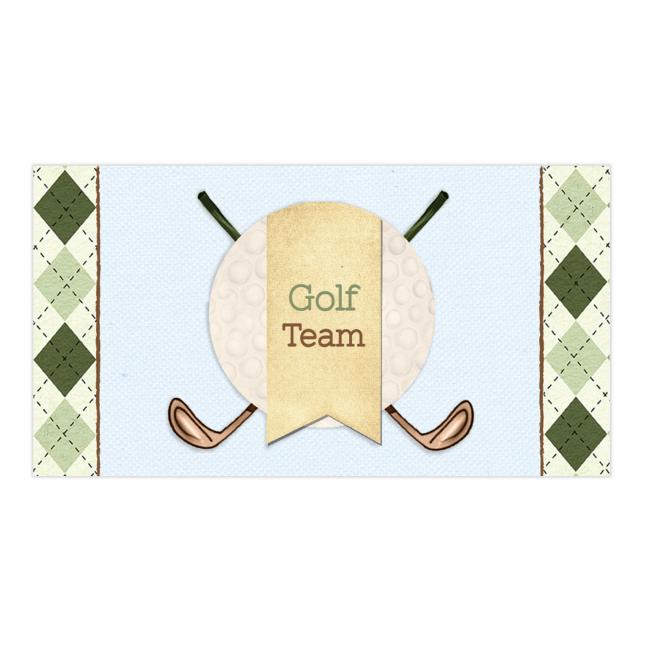 Golf Boy Twins Envelope Sticker