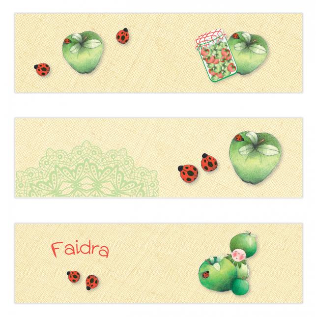Green Apple Mini Topper Flags