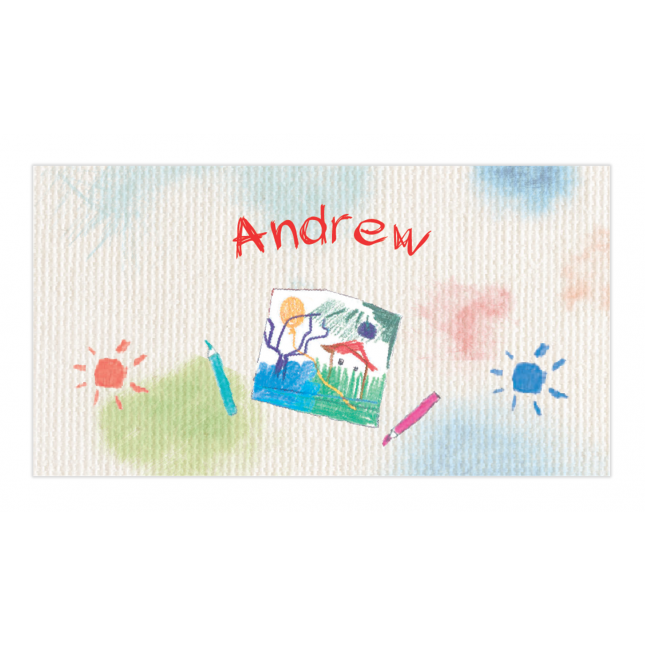 Art Studio for Boys Envelope Sticker
