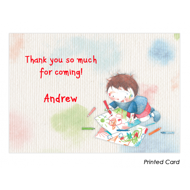 Art Studio for Boys Thank You Cards