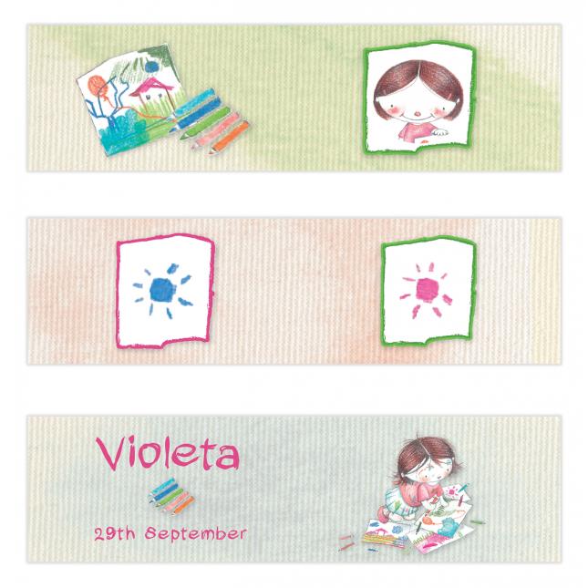 Art Studio for Girls Mini Topper Flags