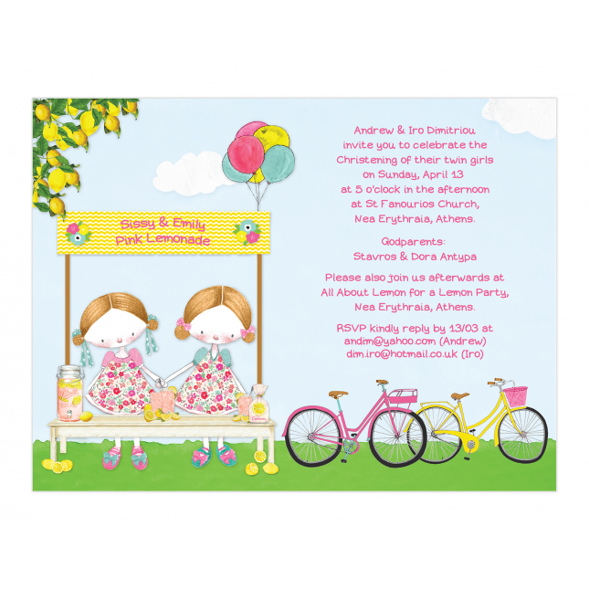 Pink Lemonade Invitation