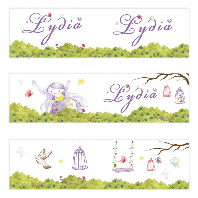 Purple Fairy Mini Topper Flags