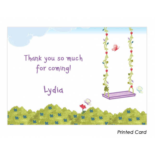 Purple Fairy Thank You Cards