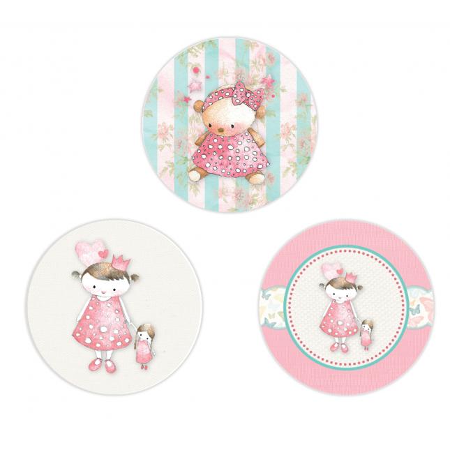Vintage Princess Circle Stickers