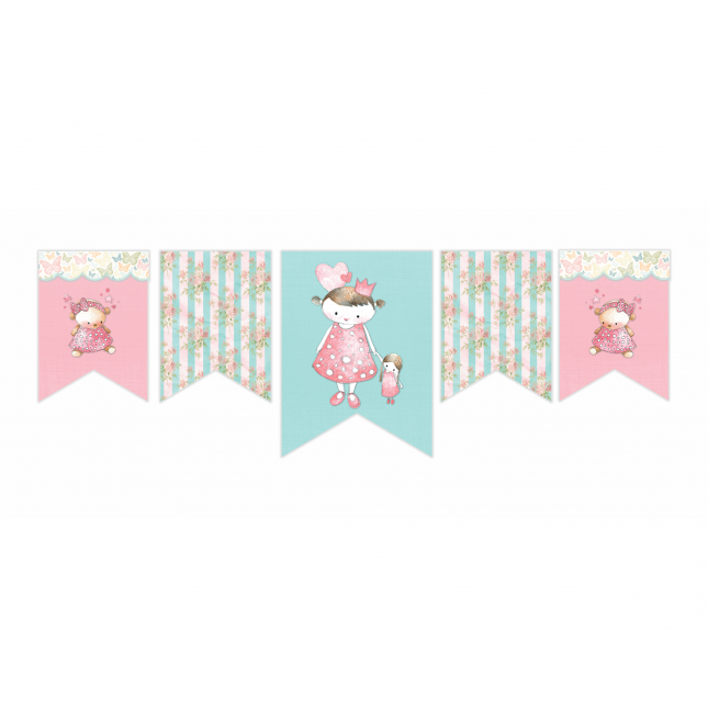 Vintage Princess Horizontal Decor Banner