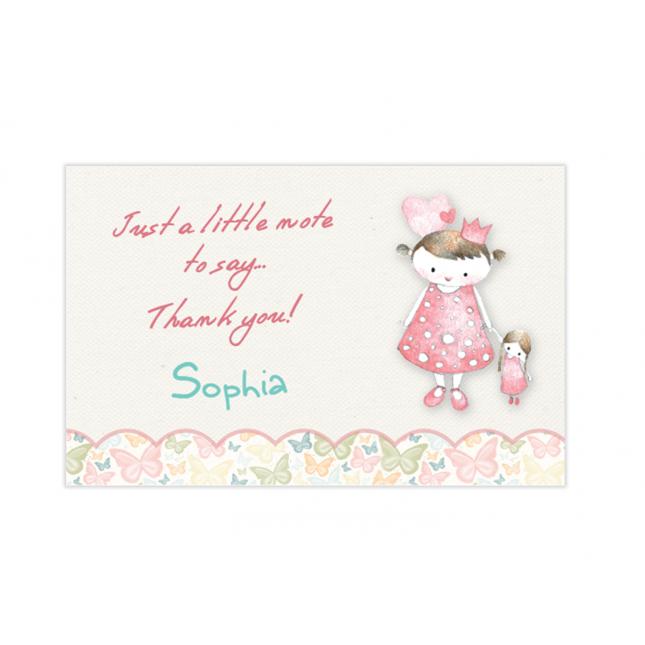 Vintage Princess Mini Thank You Cards