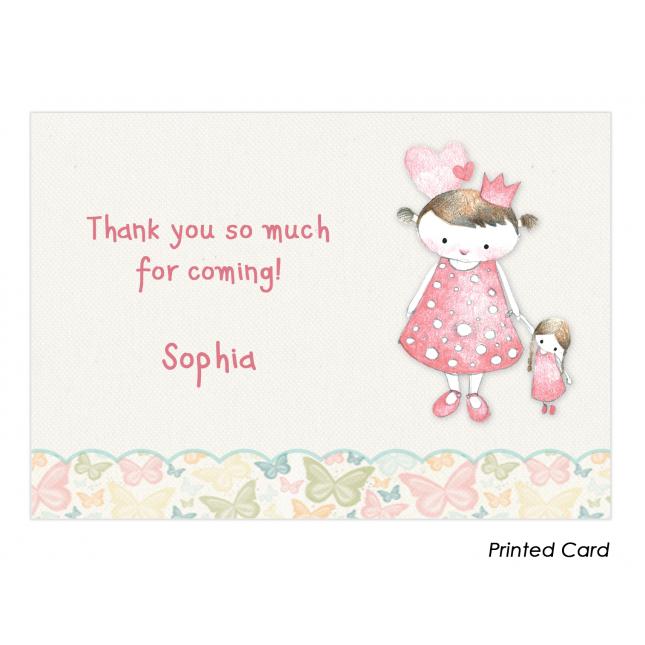 Vintage Princess Thank You Cards