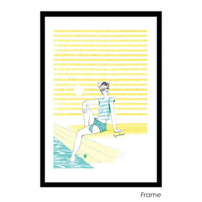 Girl in the Sun Art Print | Virginia Romo