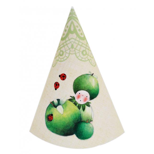 Green Apple DIY Party Hats