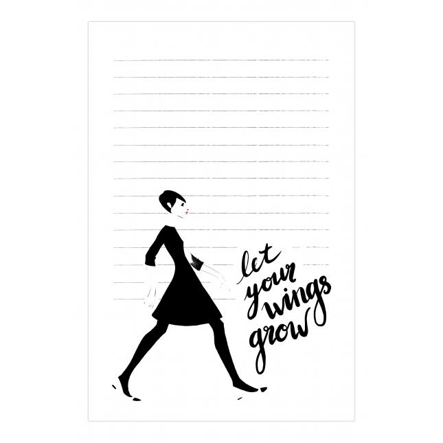Grow your Wings Notepad   Virginia Romo