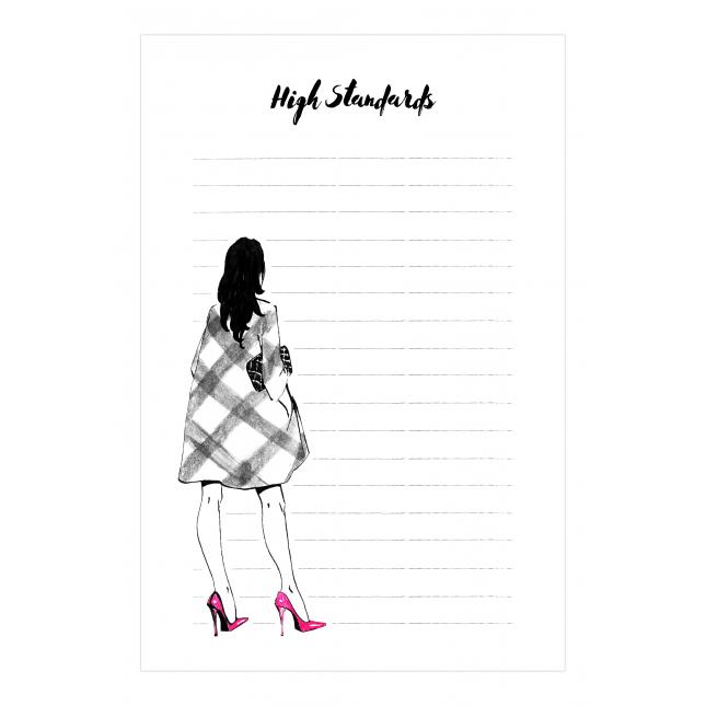 High Standards Notepad | Virginia Romo